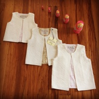 """Nailah"" waistcoats in embossed cotton"