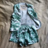 """Maximilian"" shorts and ""Vesper"" waistcoat set"